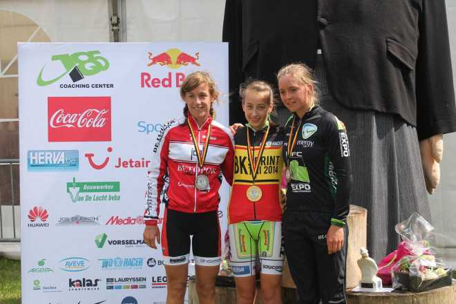 podium dames bk sprint