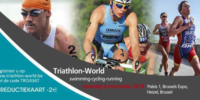 3athlon.be biedt u 2 € korting op Triathlon World