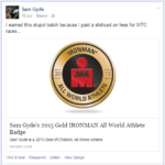 Sam Gyde Gold AWA Badge