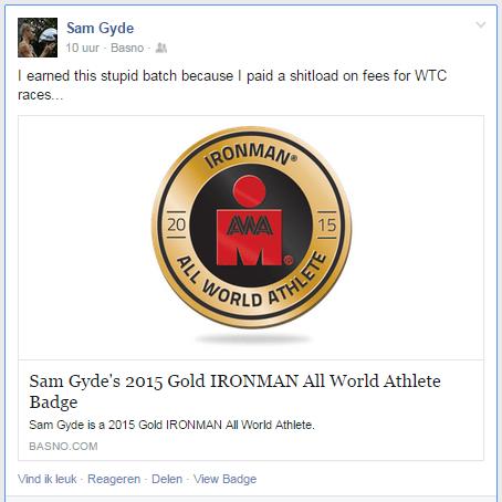 Sam Gyde Gold AWA Badge