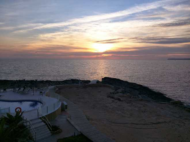 Mallorca stage uitzicht zonsondergang
