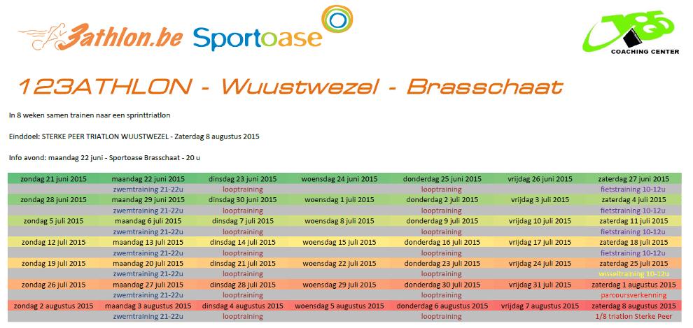 123athlon Brasschaat 8w Programma