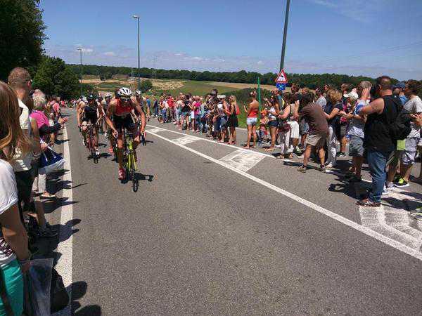 Het BK OD triatlon werd in 2015 gehouden in l'Eau d'Heure. (foto: 3athlon.be)