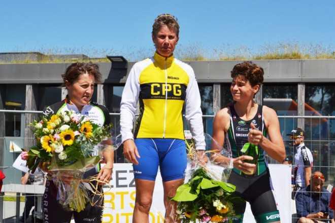 Mieke Suys Joke Coysman Inge Vancauwenberghe Sint-Laureins podium