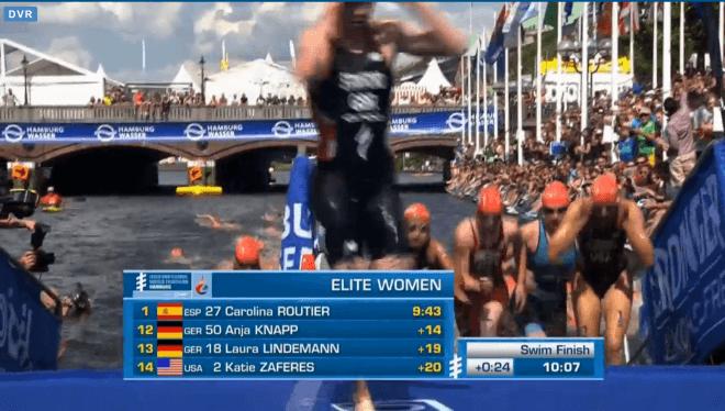 Charlotte Deldaele 22e swim Hamburg