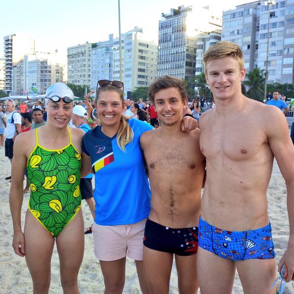 Evi Vanacker op zwemtraining Rio