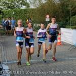 De finish van de geslaagde team-relay, met winst voor KTT (foto: Wendy Aert s)