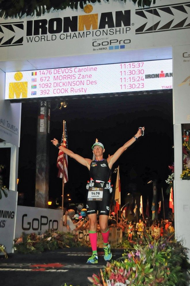 Caroline Devos finish Hawaii 2015