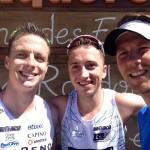 Joerie rechts naast Vincent Van De Walle en Kenneth Vandendriessche