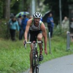 Tuur Lemmens als leider op de fiets op BK in Brugge (foto: Katrien Decru)