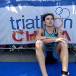 Jelle Geens na zijn 22ste plaats in de wereldbeker in Cheng Du (foto: ITU/Delly Carr)