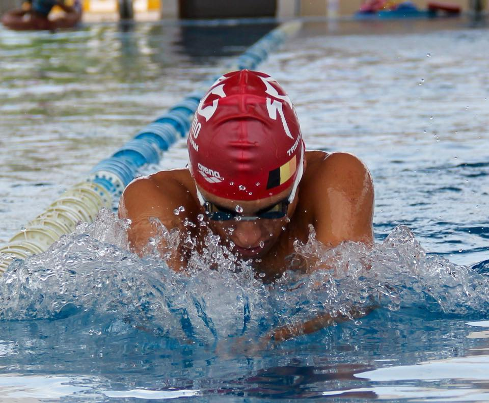 Jelle Geens zwemtraining