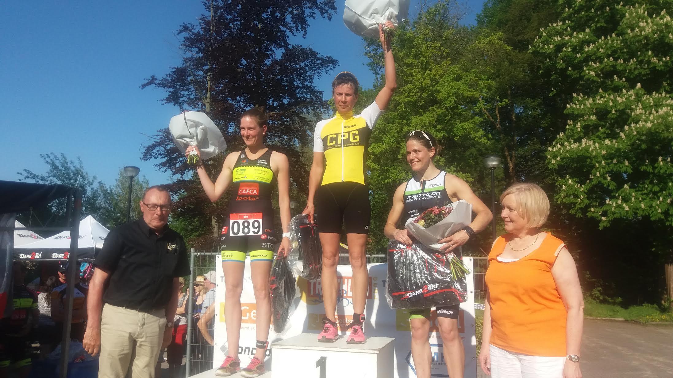Mieke Suys podium Geel 2016