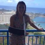Tine Deckers schouder Puerto Rico