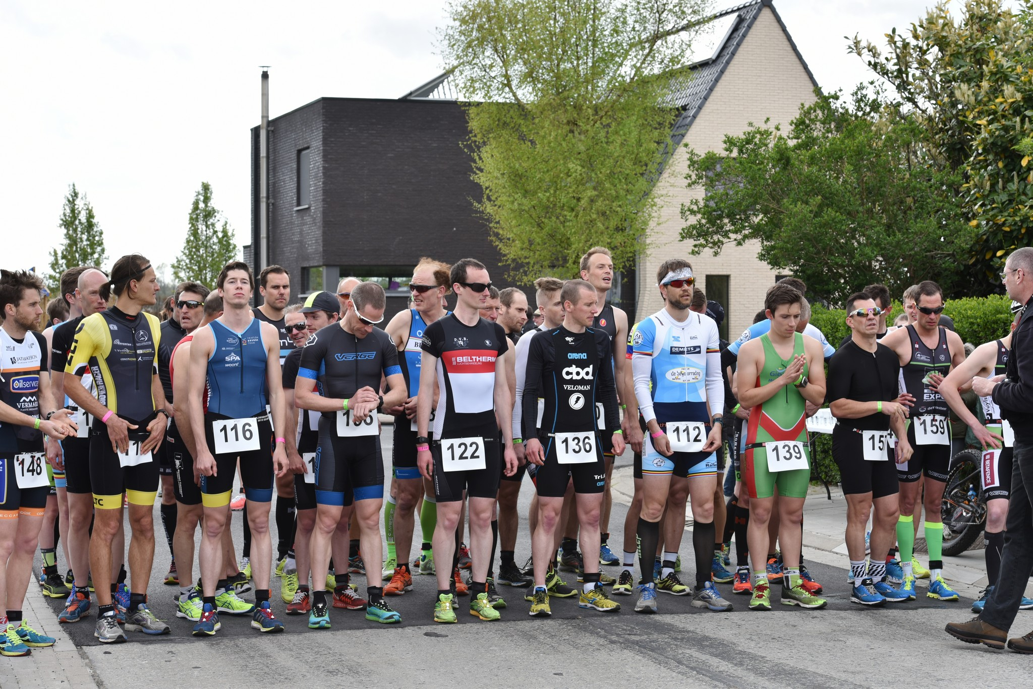 Start bij de mannen (foto: Johan Tack)