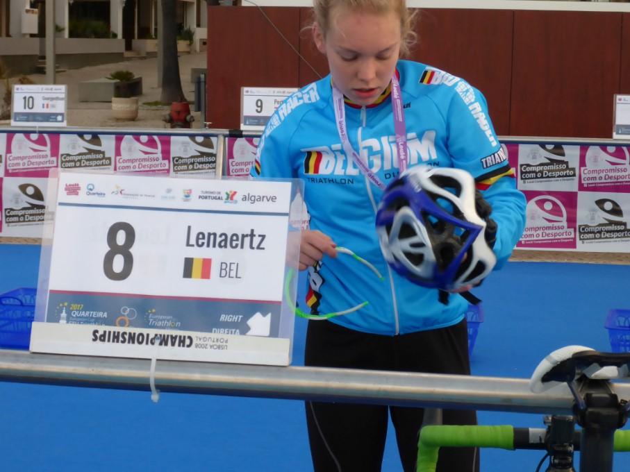 Kiara Lenaertz snelste Belgische in Quarteira (foto: Tim Van Hamme)