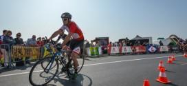 Unieke triatlon over lege autosnelweg