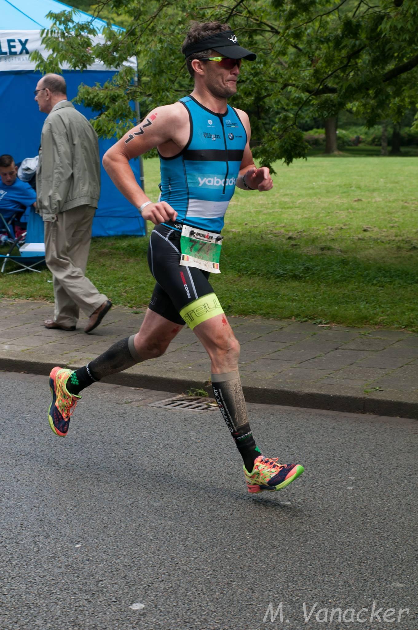 Pieter Duyck in 2016 in Ironman Maastricht (foto: Mario Vanacker)
