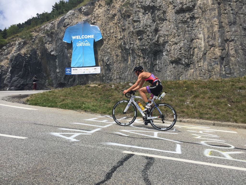 Tine Deckers Alpe Huez bike 2017
