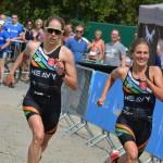 De sprint tussen Verstuyft en Barthelemy (foto: Dirk Van De Vel)