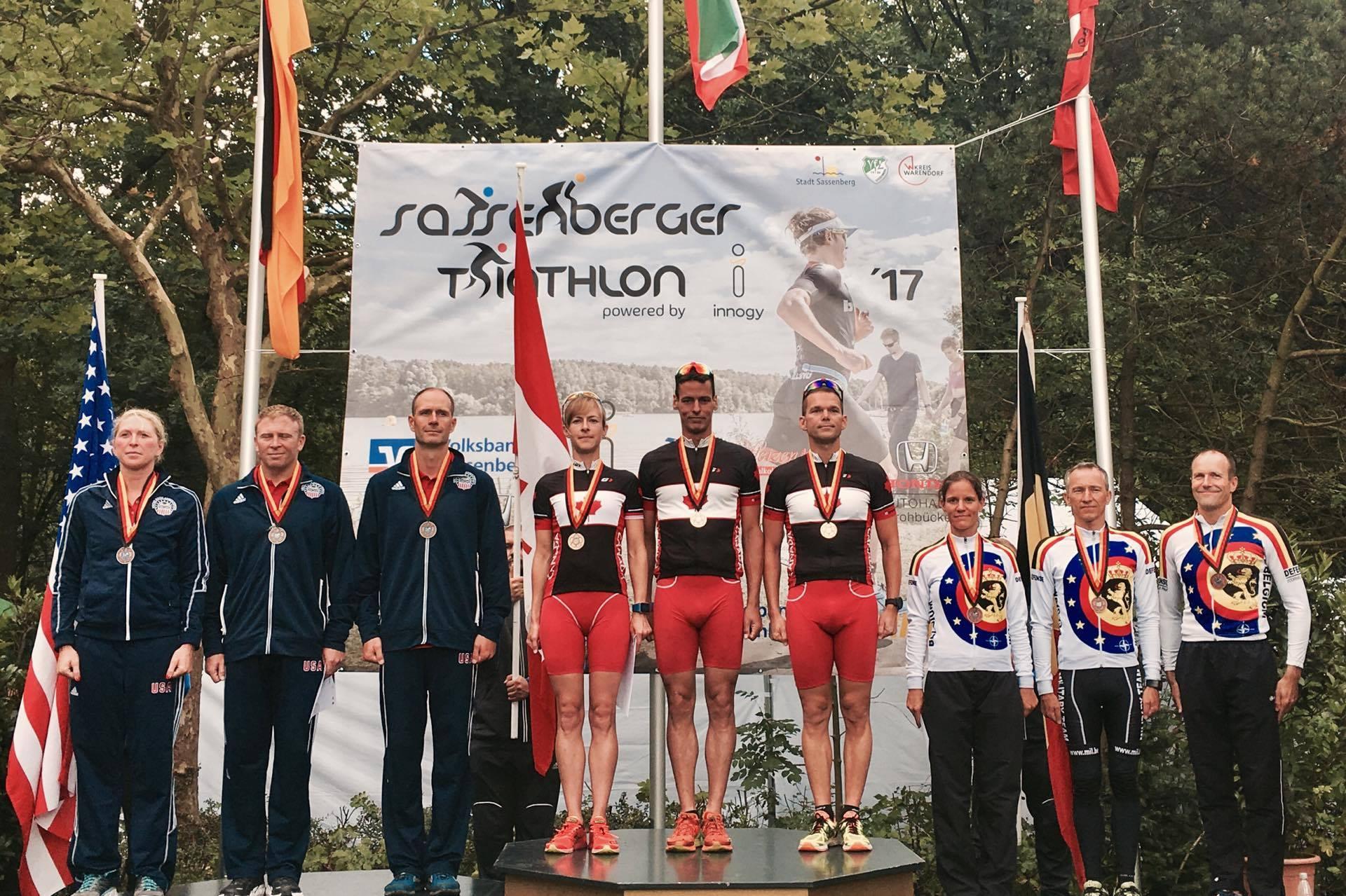 Militaire ploeg Warendorf podium Masters