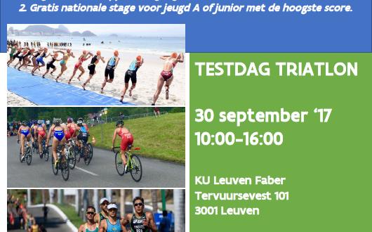 Triatlon talentdag op 30 september