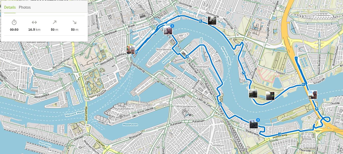 WC Triathlon AG Bike Course Rotterdam Bike Tour Komoot