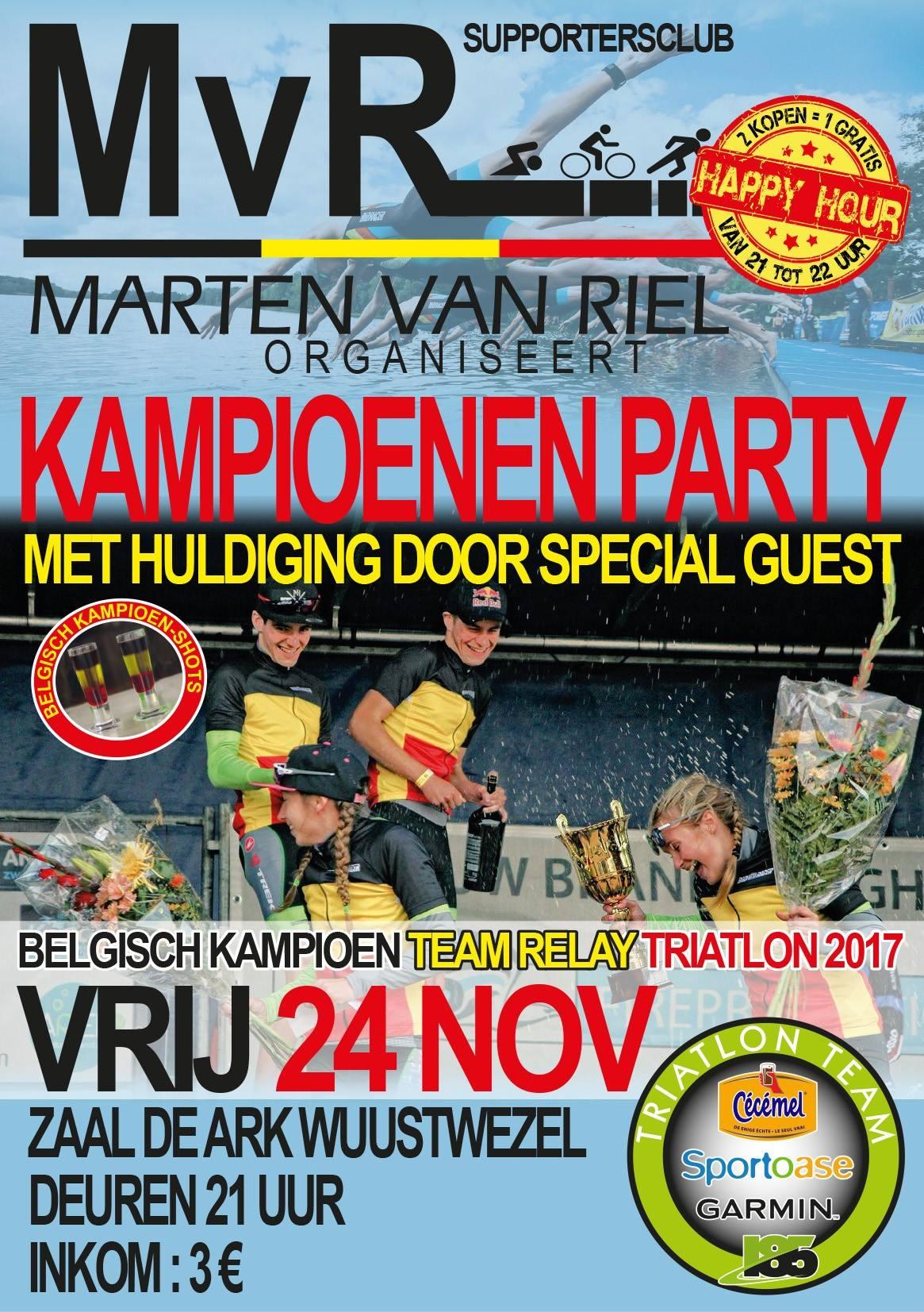 kampioenenparty Marten Van Riel