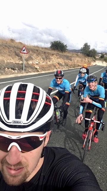 Calpe Belgian team bike wij op kop