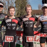 De top-4 van de Veloopzwem 2018 (foto: Wim Cottyn)