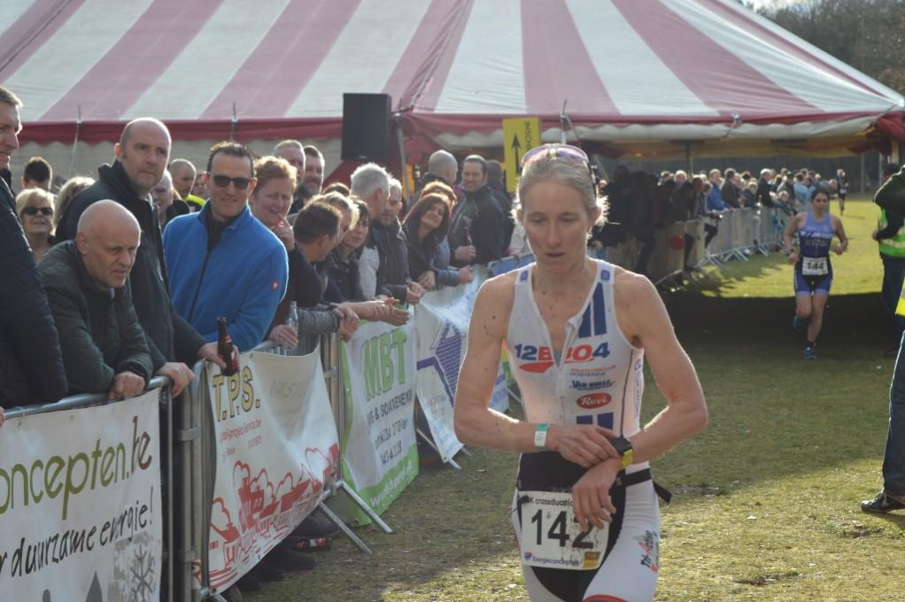 Inge Roelandt 2de finish BK Retie