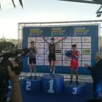 Marco Van Der Stel op het podium in Melilla (foto: 3athlon.be/Matthias Verstraelen)