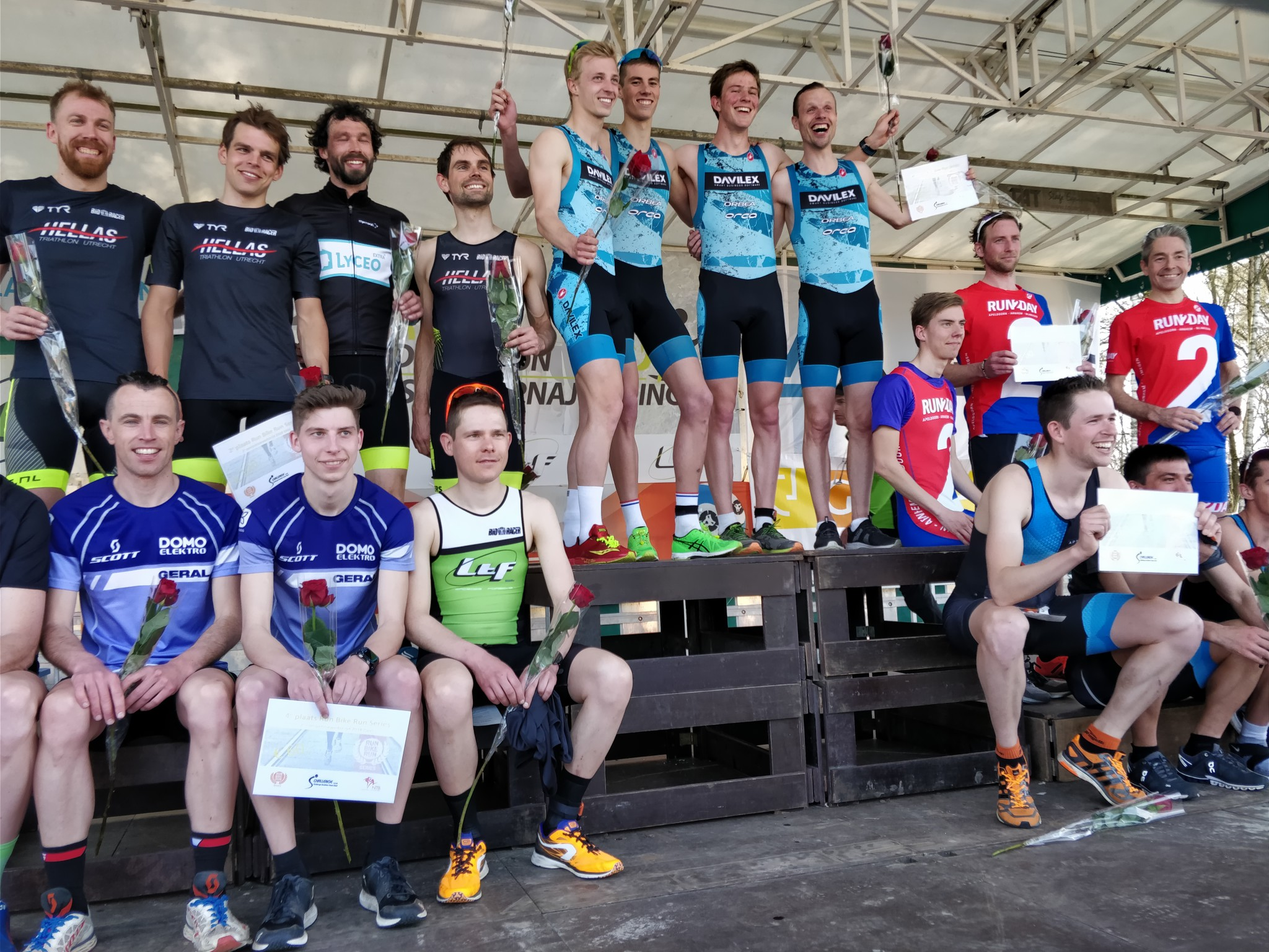 RBR Geel podium mannen