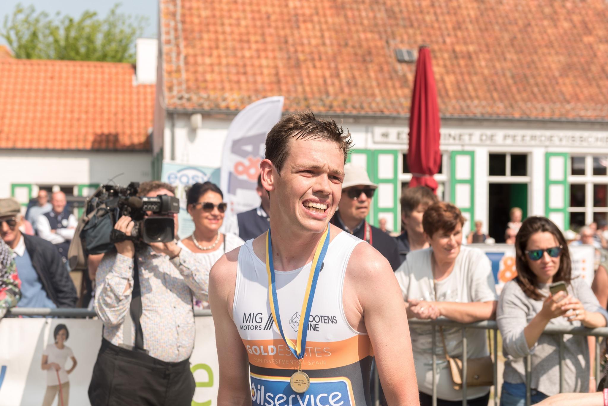 Een tevreden Sybren Baelde (foto: 3athlon.be/Johan Tack)
