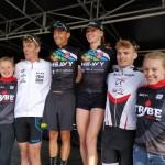 Jolien Vermeylen en Jelle Geens winnen in Sint-Laureins (foto: 3athlon.be/Hans Cleemput)