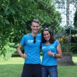 Claire Michel naast Marten Van Riel, de favorieten voor Antwerpen (foto: ITU)