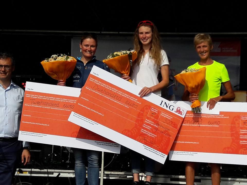 Jolien podium Zeebrugge