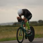 Dirk Baelus op zijn Innerme groene pure line Ridley (foto: Dirk Baelus)