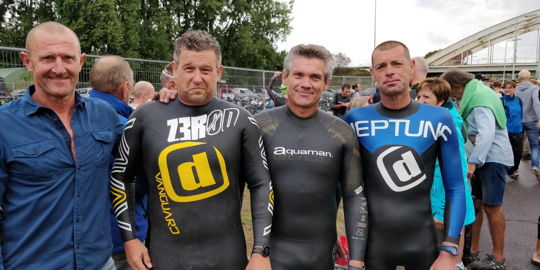 Rudi Claes, Kris Marien, Sven Segers en Eddy Van Hoof (foto: 3athlon.be/Hans Cleemput)