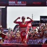 Daniela Ryf wint het WK (Photo by Donald Miralle/Getty Images for IRONMAN).