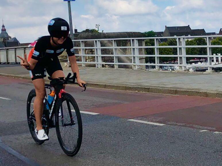Els Visser in de Ironman Maastricht (foto: 3athlon.nl)