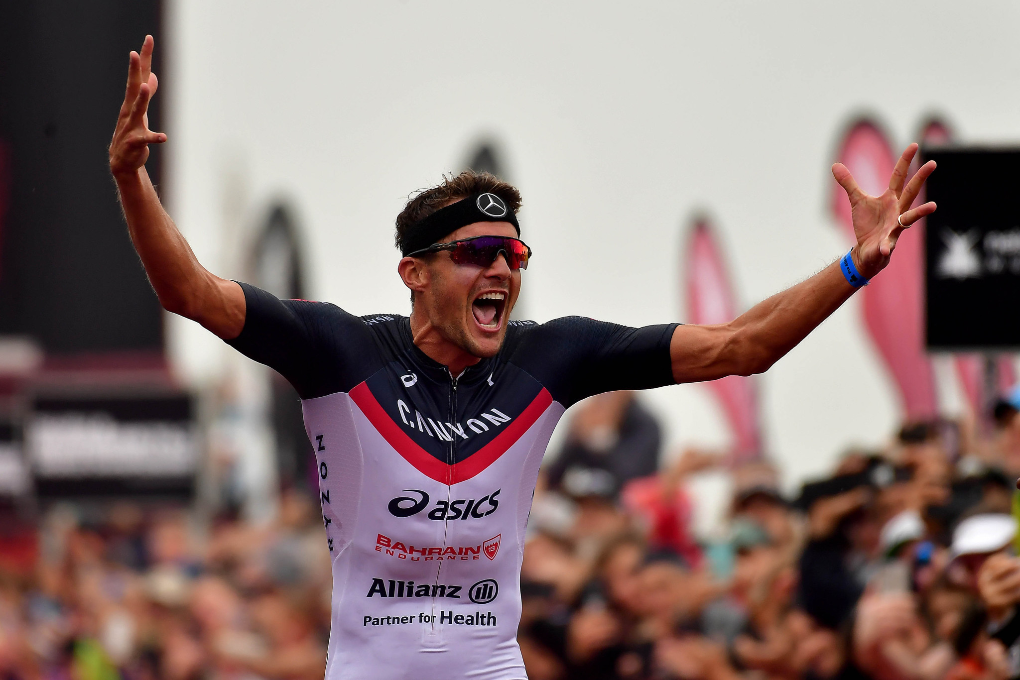 Frodeno wint het WK 70.3 (Photo by Donald Miralle/Getty Images for IRONMAN).
