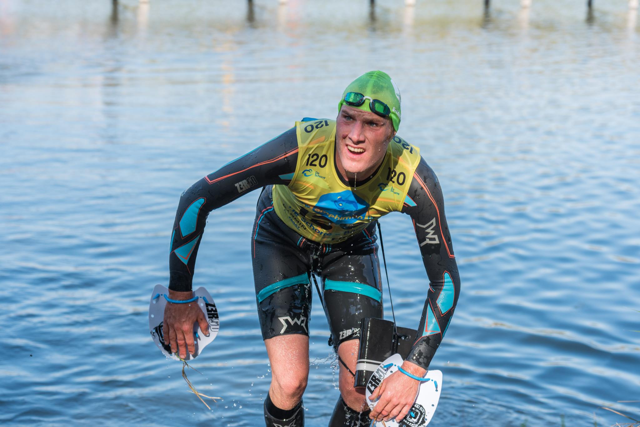 Joris Buyl, winnaar van de korte afstand (foto: 3athlon.be/Johan Tack)