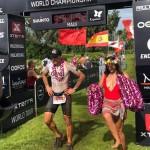 Stephane Vander Bruggen finisht in Maui (foto: Jodienne Leigh)