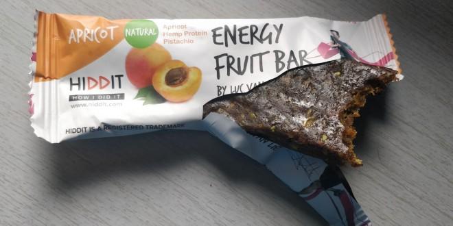 Juiste combi koolhydraten en eiwitten… en erg lekker – Hiddit Energy Fruit Bar