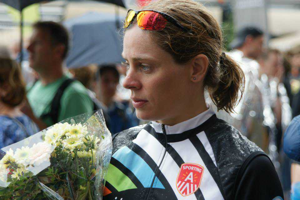 Katrien Verstuyft op podium wereldbeker