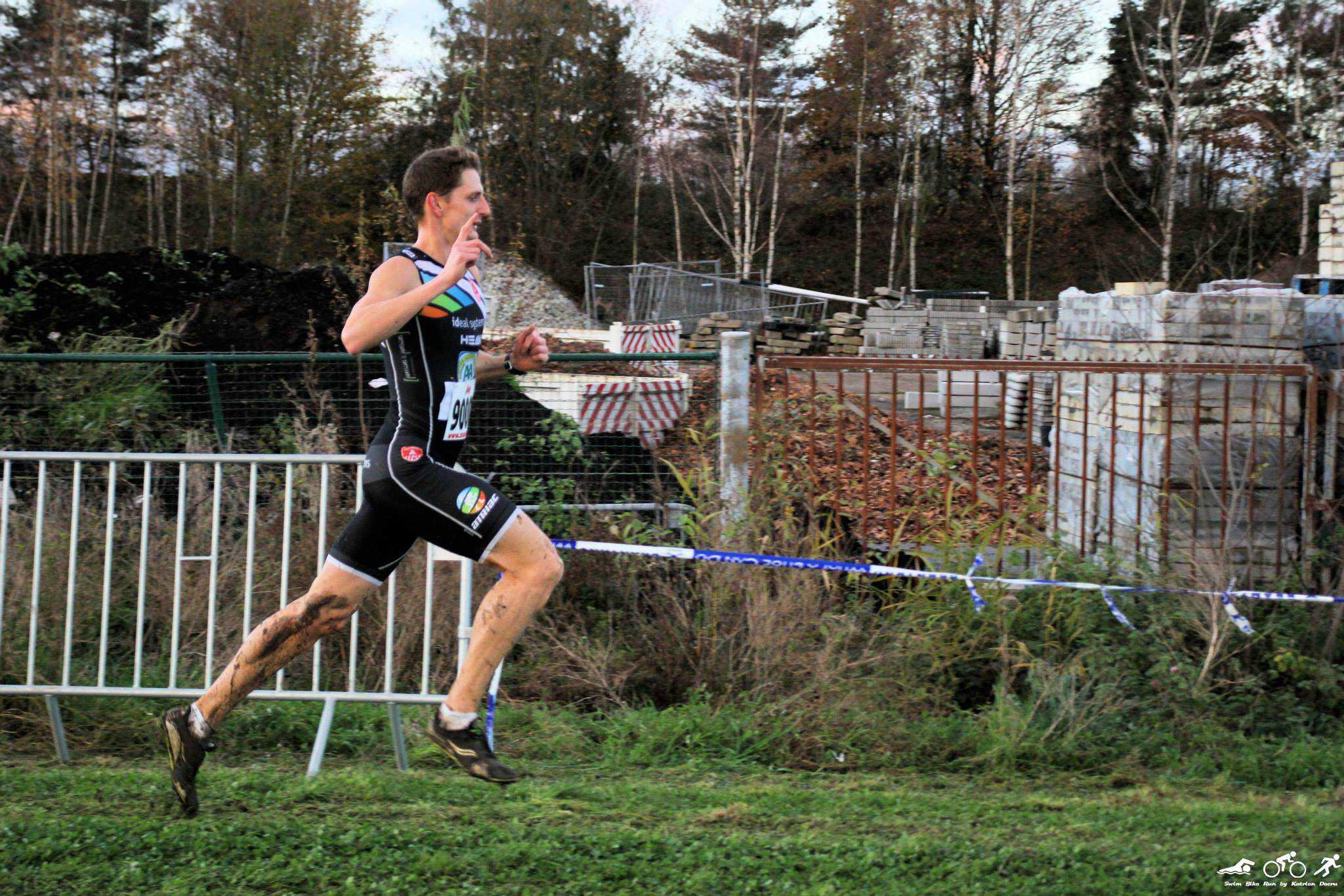 Triatleten lopen in de kijker