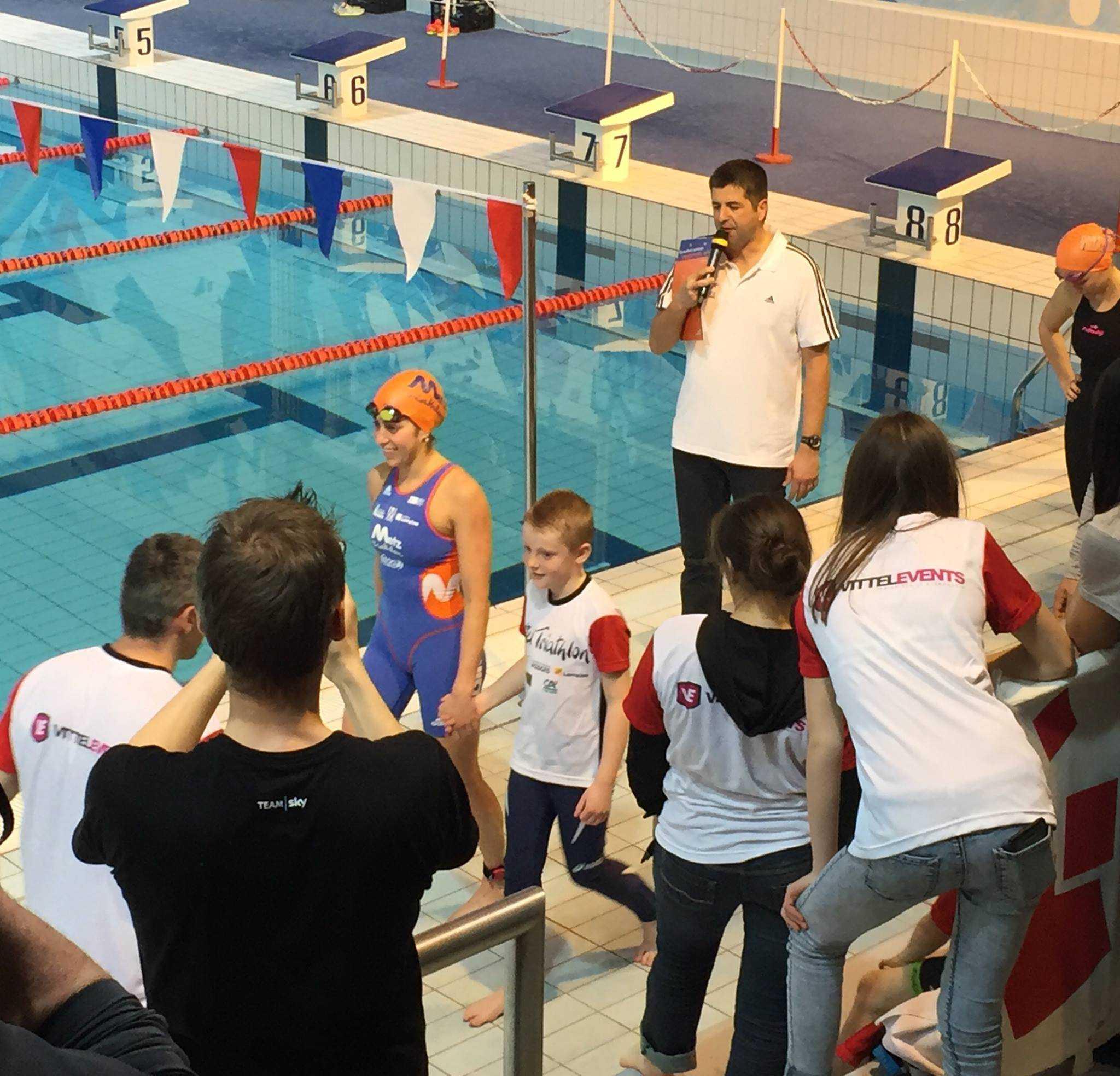 Claire Michel 4de in Aquathlon Vittel
