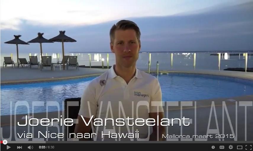 """Topsporter Joerie Vansteelant: """"Via Nice en Maastricht naar Hawaii"""""""