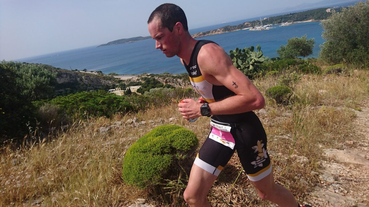Kris Coddens net naast podium in Xterra Greece